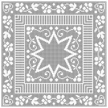 Free Pattern  Written Instructions and  Graph   Filet Centerpiece The Spool Cotton Company 1943  Book No. 202 Crochet for Tables   http://web.archive.org/web/20071231193623/http:/www.angelfire.com/folk/celtwich/