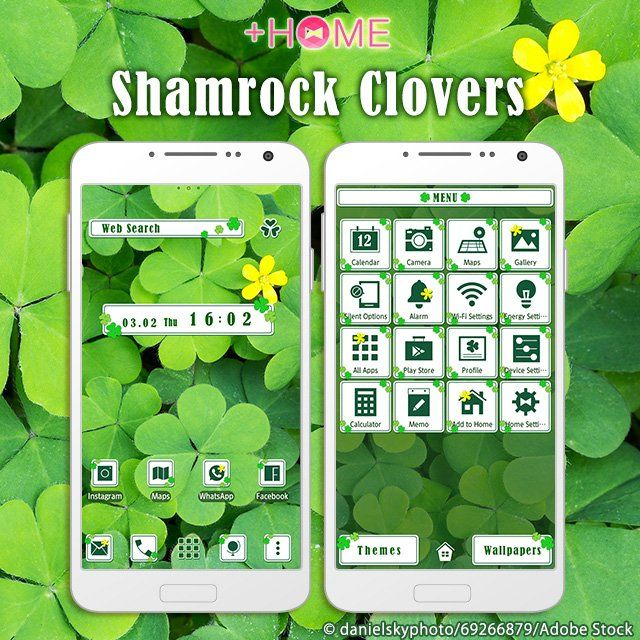 """""""Shamrock Clovers""""   Saint Patrick's Day is March 17th! Celebrate with this seasonal theme!  Download Now:http://bit.ly/2ml2yJJ  #cute #wallpaper #design #icon #plushome #homescreen #widget #deco"""