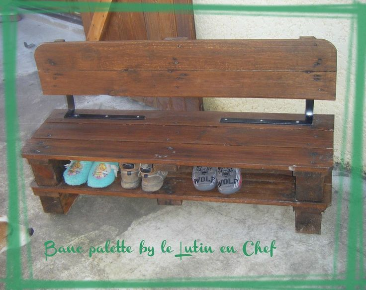 banc chaussures en palette cr ations du lutin en chef. Black Bedroom Furniture Sets. Home Design Ideas