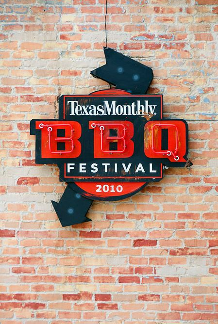 Texas monthly BBQ Festival 2010 signage, makes me hungry.