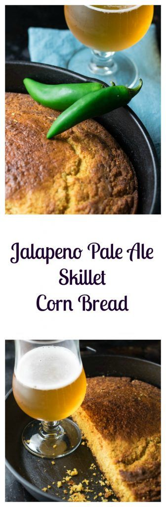 Jalapeno Pale Ale Skillet Corn Bread is so good you'll be begging for more! | Beer Girl Cooks