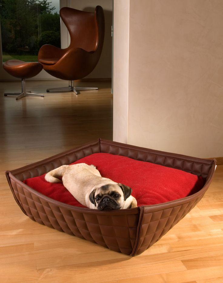 BOWL Leder Hundebett, Hundebett Leder,Hundeschlafplatz