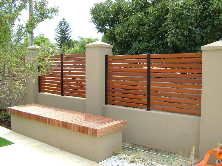 Brick Wood Fence Idea In The Garden Pinterest Fence