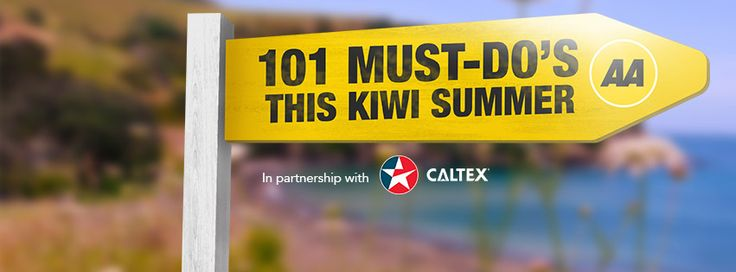 101 Must-Do's for Kiwis is back with a special list for this Kiwi summer!    Vote daily for which 'Must-Do' you wish you'd 'Must-Done' and you could win it, plus $200 Caltex StarCash.    Head to www.101mustdos.co.nz for the full list and to enter!