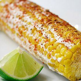 Mexican Grilled Corn: Ingredients 4 ears of corn on cob. 1 1/2