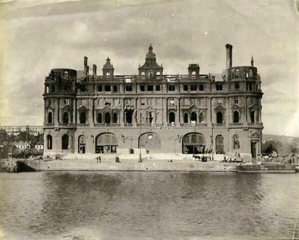 Haydarpasa station after fire, presumably 1917
