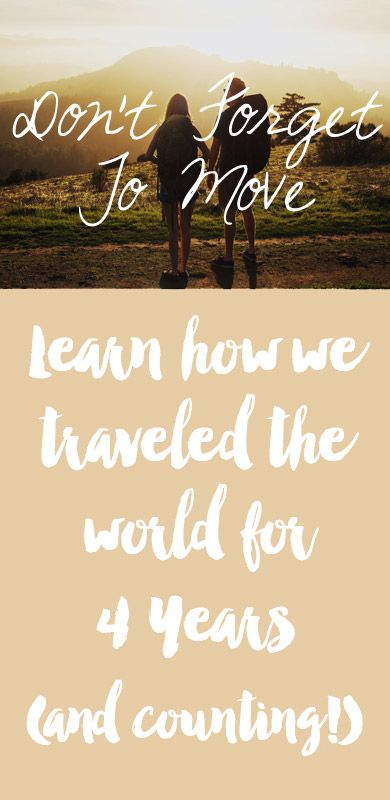 Don't Forget To Move helps people feel inspired, prepared and excited for making responsible choices in their travels. Get more out of your travels without missing out.