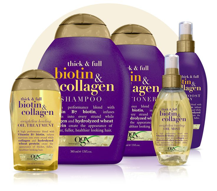 Nutrient-rich ProVitamin B7 biotin + the plump-it-up power of collagen gives each strand a beautiful boost.