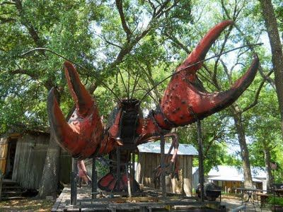 Huge crawfish sculpture | Breaux Bridge, Louisiana #myhometownpins