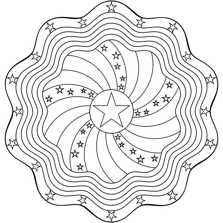 Don\'t Eat the Paste: Stars and Stripes Mandala Coloring Page ...