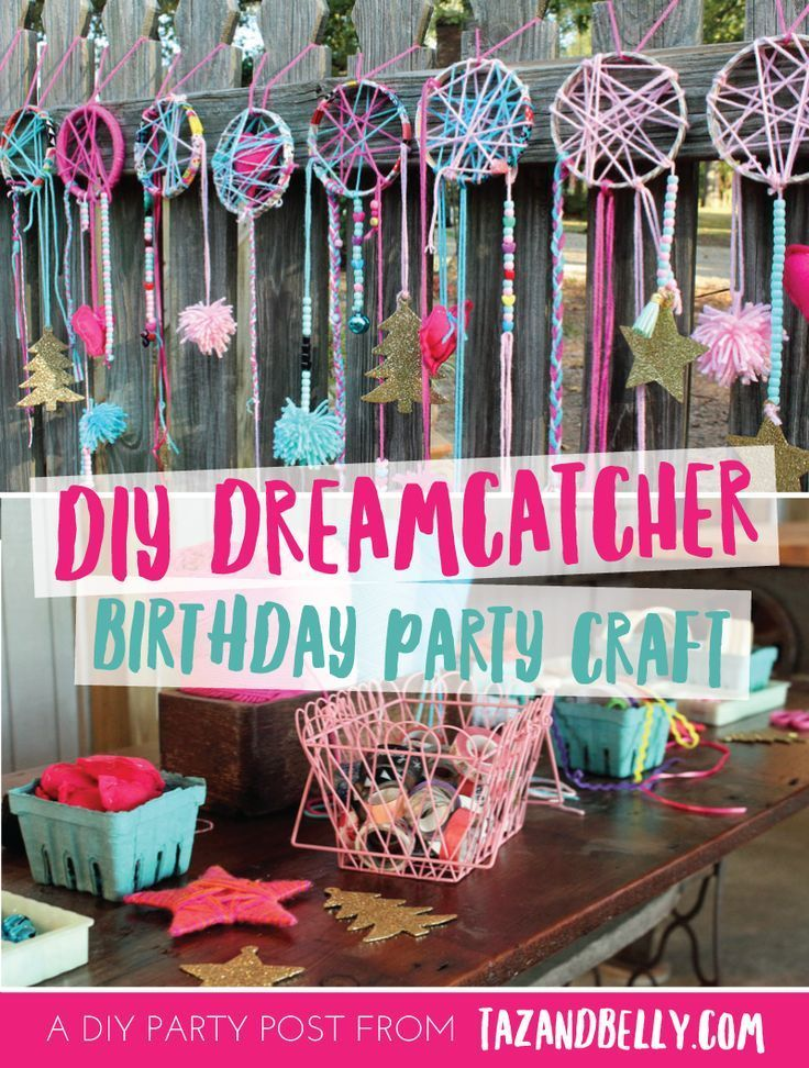 Diy Dream Catcher Party Craft Taz And Belly Birthday Party Crafts Sleepover Birthday Parties Sleepover Party