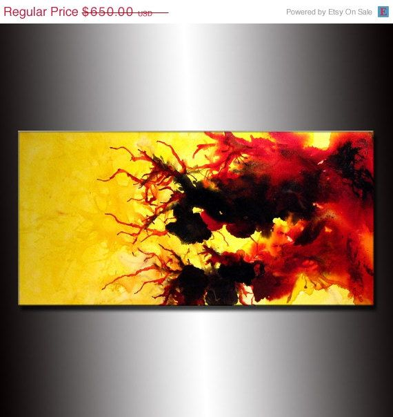 Abstract painting original abstract painting by for How to do painting on canvas