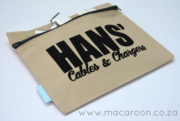 Cables & Chargers Personalised Pouches...