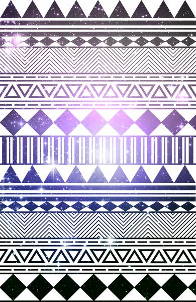 galaxy navajo tribal pattern Art Print