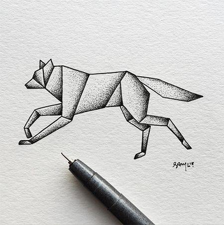 La pasión del ilustrador @SamLarson se encuentra en la naturaleza y el mundo animal, por lo que no pierde oportunidad para plasmarlos en sus obras por medio de tinta.