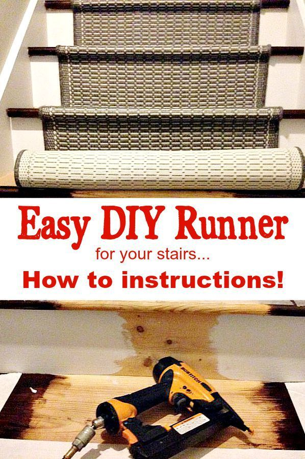 How to Add a Runner to Stairs, easy DIY that you can do to revive your stairs!