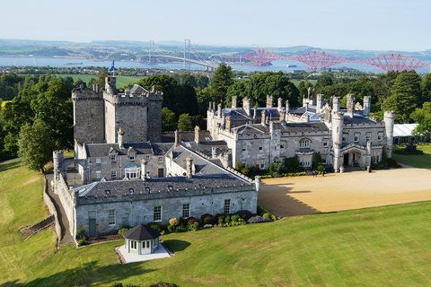 If you're a Ladies of London fan with an eye for luxury travel, you've likely been curious to know more about Dundas Castle, which hosted the crew over two episodes this season. At the beautiful and historic Scotland estate, the ladies enjoyed a true Scottish dinner with all the trimmings, and the castle lit the skies with a huge firework display.