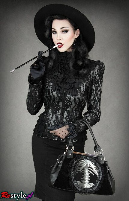 Dark clothes, punk shirts, gothic jewelry from Restyle.pl   Offbeat Home