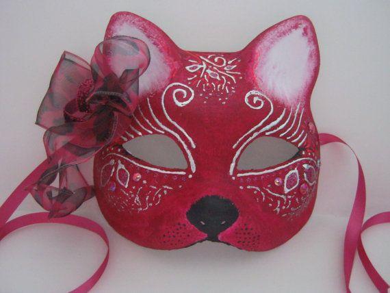 cat mask fancy dress masks uk feline kitty masked ball
