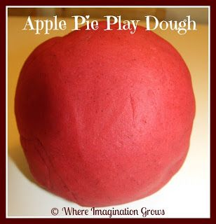 Apple Pie Scented Playdough! Great fall activity for kids!!