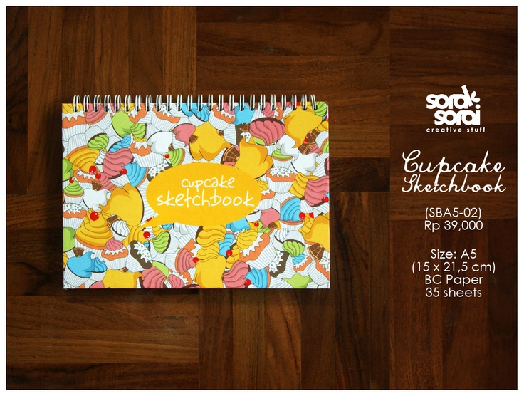 Sketchbook Cupcake by #soraksorai.  Designed by Niken Aridinanti