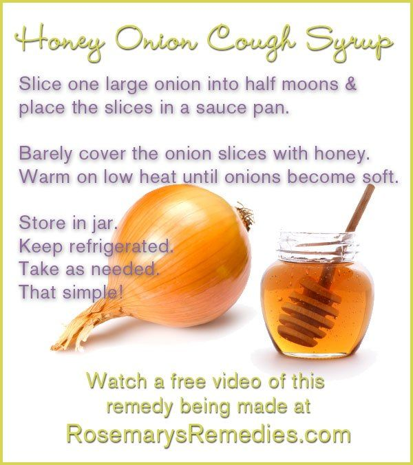 Honey Onion Cough Syrup -- Try making this and go natural! SHARE