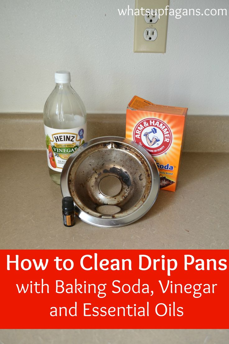 The best and worst methods of cleaning stove drip pans stove sodas and pizza pan - Things never clean baking soda ...
