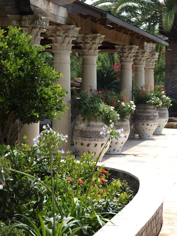 Decorating Patio with Potted Plants | Sensational Plant Pots decorating ideas for Aesthetic Landscape ...