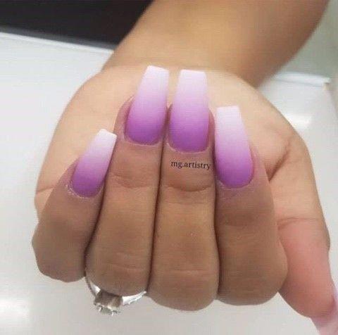 • Nail Design Color Star Nails * Lila Lavendelnägel!