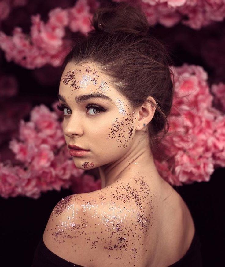 Porträt Sommer Frühling Inspiration Glitter Modell kreative Fotografie Foto Idee …   – Günstige Foto Utensilien – Kreative Props