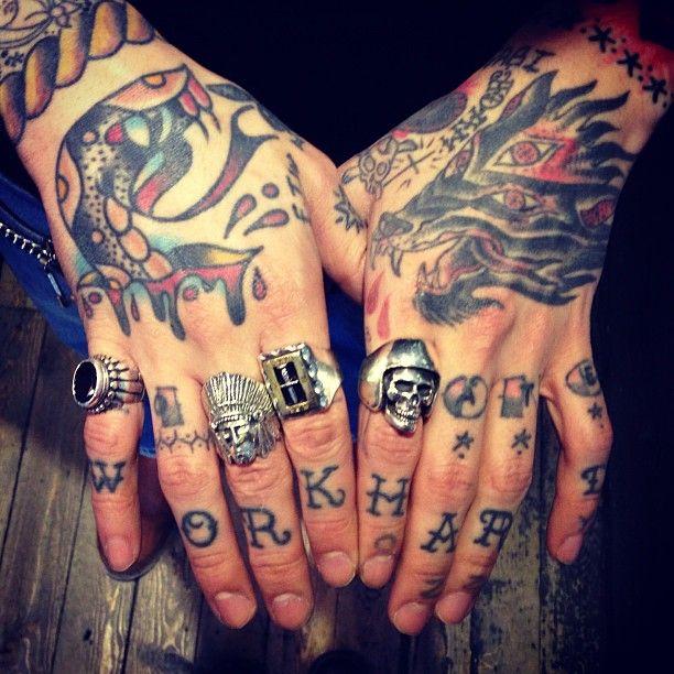Hand Tatt's. +++ The Great Frog Rings, London.