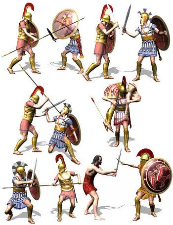 Ancient Greek Army Weapons | Greek sword fighting guide | use of greek swords