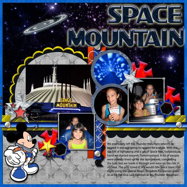 Space Mountain - Page 2 - MouseScrappers.com