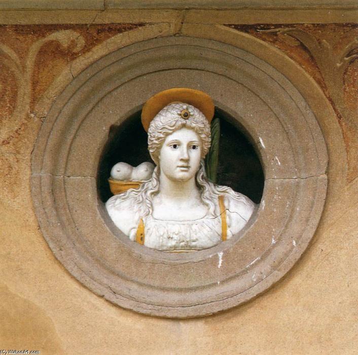 'Sant Agata', terracotta di Giovanni Della Robbia (1469-1529, Italy)