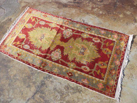 Pastel Vintage Carpet Rug Etnic Carpet Rug Tribal Carpet Rug Anatolian Carpet Rug 4 11 X 2 6 Feet Carpetsatmenar Oushak Carpets Tribal Carpets Rugs On Carpet