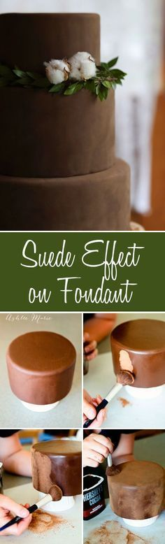 Suede Effect Cake DIY tutorial. A tutorial to create this soft suede effect on any cake #suede #fondant