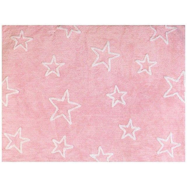 Tapis Enfant Coton Grandes Étoiles - Taille : 120x160 cm ...