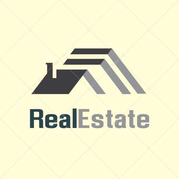 Realestate Logo Logo Is Us Roofing Logo Roofing Company Logos House Logo Design