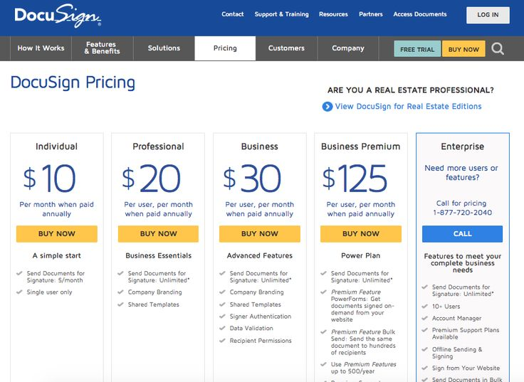 Docusign pricing plans and options. 3/1/15 How to plan