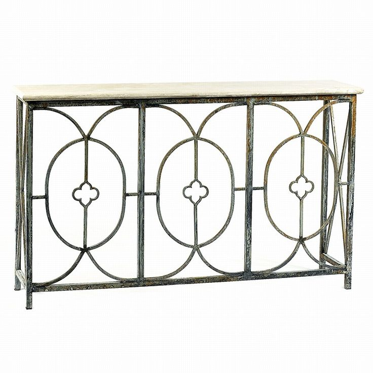 Wrought Iron Deep Ocean Rouge Hall Sofa Wall Console Table