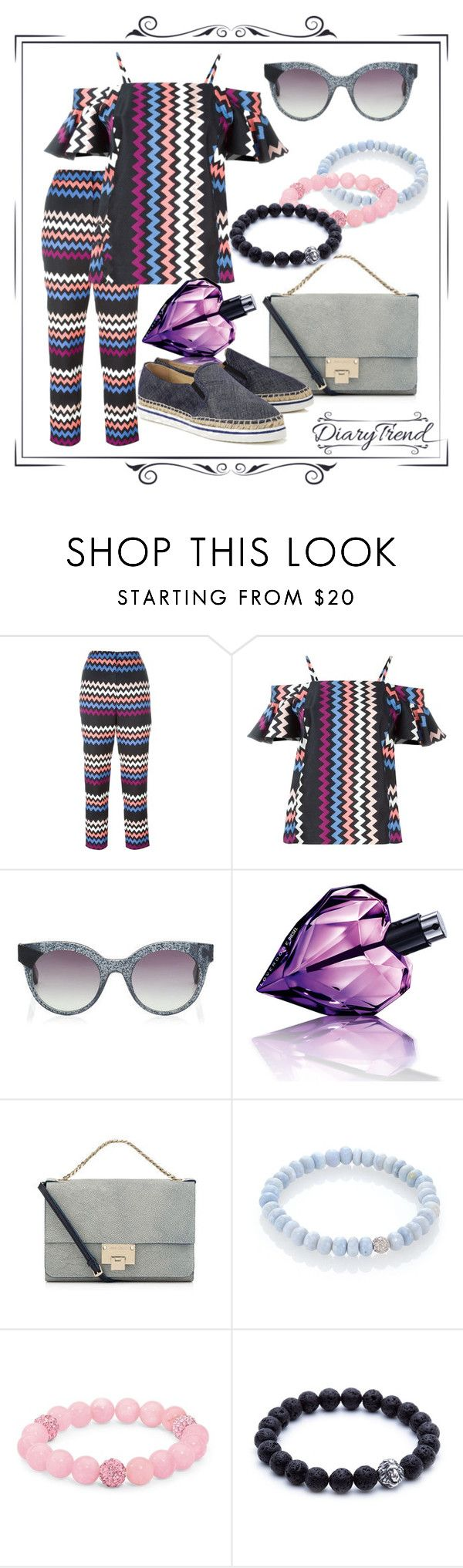 """С плеч долой"" by dairy-trend ❤ liked on Polyvore featuring MSGM, Diesel, Jimmy Choo, Sydney Evan and Palm Beach Jewelry"