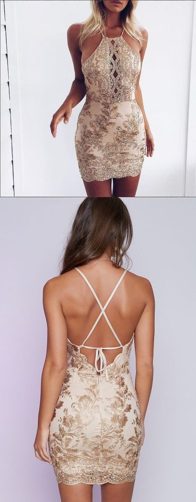 Sexy Sheath Sequins Mini Party Dress