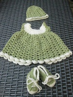 Newborn crochet dress set