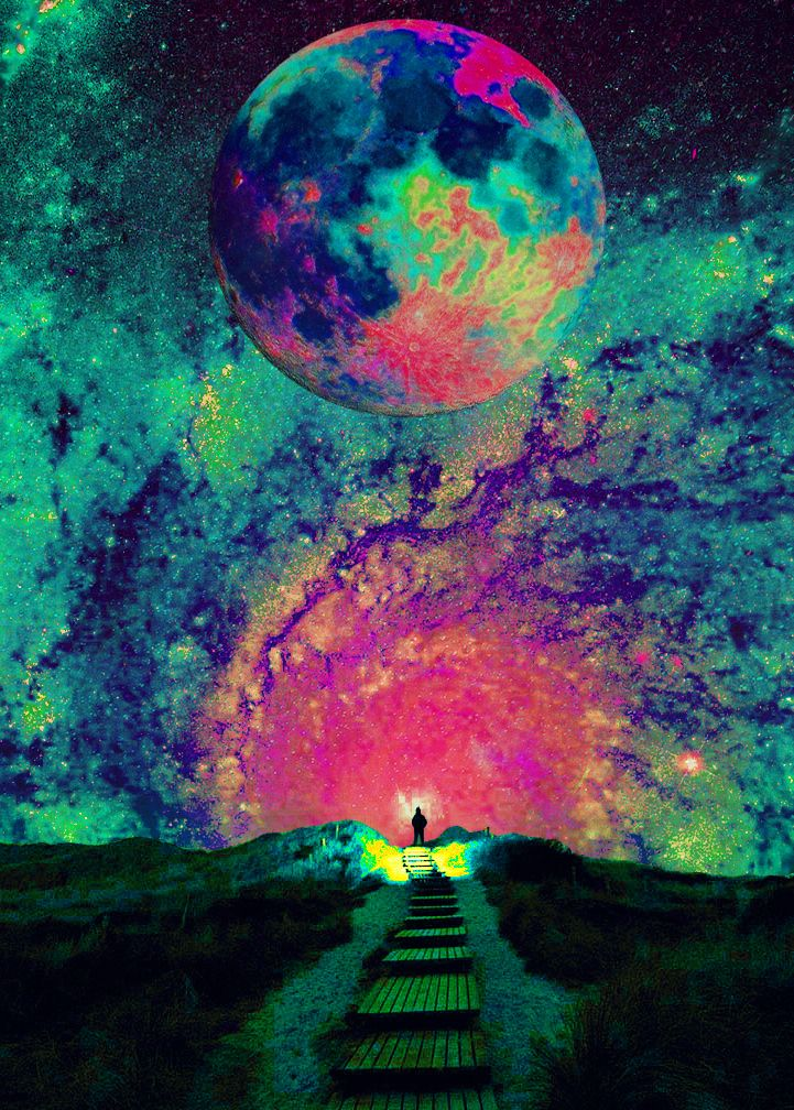 trippy, trippy art, to the mind that is still, the whole universe surrenders.