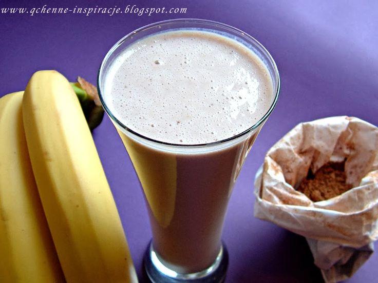 przepisy fit koktajl z bananem gorzką czekoladą i otrębami