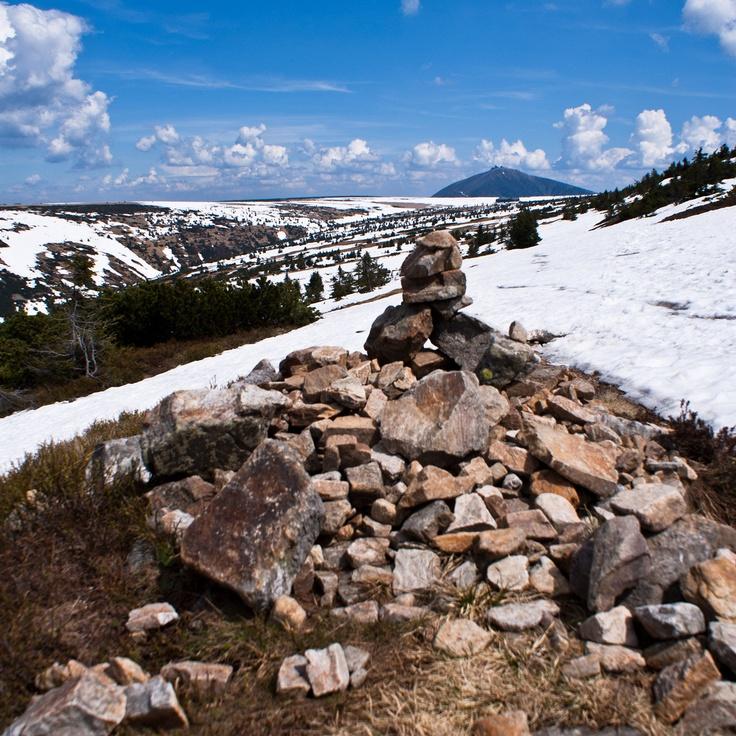 Krkonose mountains, Czech Republic and highers mountain of Czech Rep. Snezka