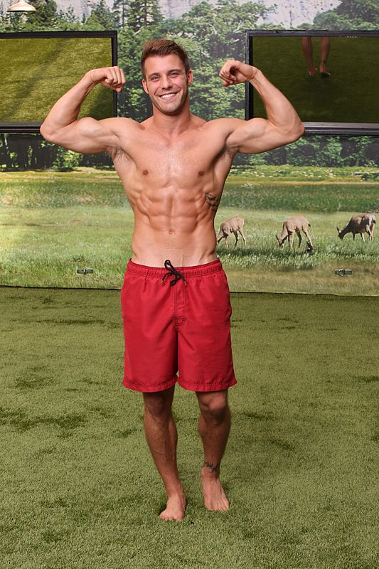 Big Brother 18 backyard picture of Paulie Calafiore.