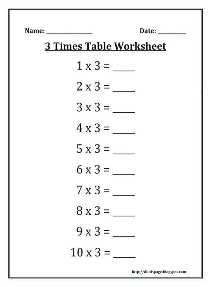 Salamander Math Worksheet 3 Times Table Worksheet Math Beatricehewub Worksheets For Kids Times Tables Worksheets Times Tables