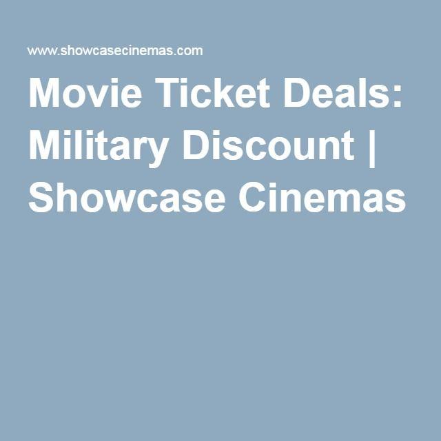 Movie Ticket Deals: Military Discount | Showcase Cinemas