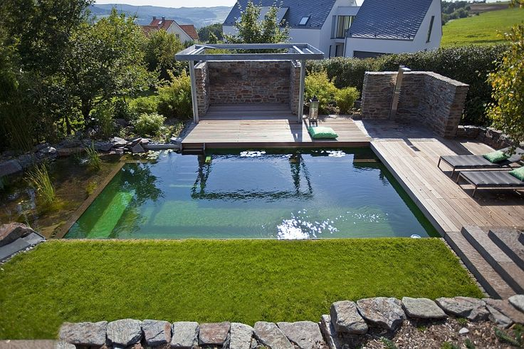BIOTOP natural pool in the Eifel Mountains